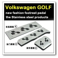 Free shipping,Volkswagen Golf 6 accelerator pedals plate, foot rest,auto car products,accessory,parts,automatic(3/P)
