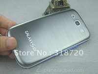 New gray Metal Replacement Back Cover housing Battery Door for Samsung i9300 Galaxy S3 Free Shipping A239