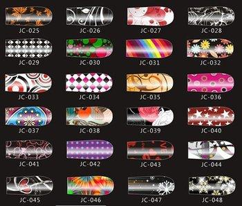 50 sets(20 pcs/set)Nail polish Manicure Nail sticker printing paste 99 selected stickers