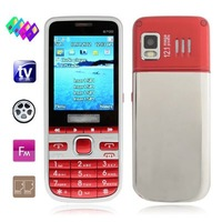 6700 Red, 4 Sim cards 4 standby, Analog TV , Bluetooth FM function Mobile Phone, Support 2Pcs TF Card, Quad band