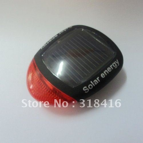 Mail Free + 1PC 909 Solar Bicycle Black Tail Lamp Safety Flash Light Lamp 3 Mode 2 LED Bicycle Rear Light+ 1 * Flexible Mount(China (Mainland))