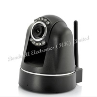 Plug and Play IP Camera with wide PTZ, H264, MicroSD Card Recording