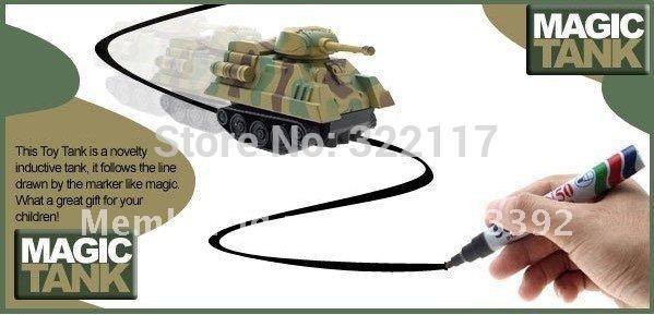 2 PCS/LOT MINI Magic Pen Inductive Fangle Children's Tank Toy Car(China (Mainland))