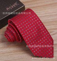 Business dress wedding red box of Superfine Polyester Silk Tie Necktie
