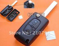 citroen 407 remote key shell 2 button