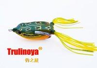 Free shipping,Fishing LureTrulinoya Snakehead killer Soft hook bait  plastic  11.5g/50mm, Green/white