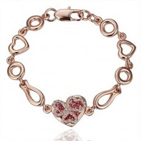Retail Fashion attractive alloy chain bracelet ---Two people love