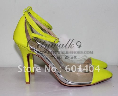 Wholesale Color Fluorescence Of Un Bout 10cm Heels Red Bottoms women dress shoes free shipping