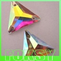 Free Shipping Triangle Shape 16mm Sew On Crystals Crystal AB Color glass material