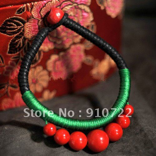 Free Shipping 2046 national minority style Bracelets with 7 beads 10 pcs/lot(China (Mainland))