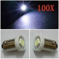 100x BA9S 5050 1SMD Super White W5W 1LED light Bulbs Door Indicator Lamps