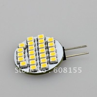 free shipping brand new 5x G4 24 SMD 3528 LED warm white/cool white  DC12V Marine led car Light Bulb Lamp