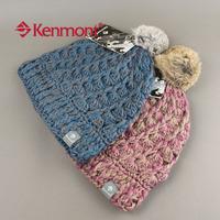 Женская шапка autumn new Kenmont hats rabbit fur ball handmade knitted hat km-1121