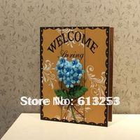 Fashion Rural Style Coloured Drawing Wooden Key Box / Wall Deco / Wall Key Box / Storage Box.Free Shipping   A0106089