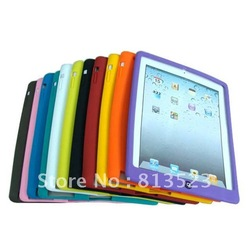 Hot Sale Home Button Silicone Case for the New iPad 3 Free Shipping(China (Mainland))