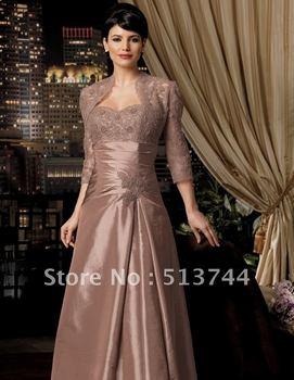 Sweetheart neckline Free jacket Mother of the bride dress Taffeta
