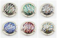 Free shipping wholesale Mix color bag hook Round foldable Bag Hanger/Purse Hook/Handbag Holder  6pcs/lot  BG013-BG018