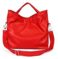 Hot Selling! Classical Red Soulder Handbag Ladies Multifunctional Tote Bags Sling Bag Leather 610g Star Fashion Korean Style