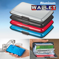 Fashion (6 pcs/lot) Elegant Aluminum Wallet ,Credit Card Business Card Holder 6 Colors Optional HL0306 free shipping