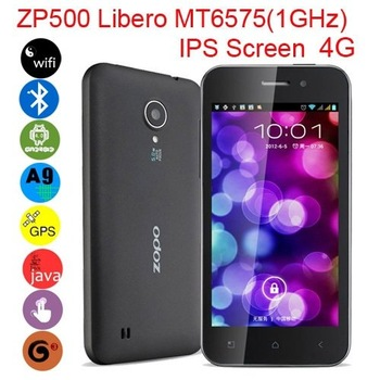 "ZOPO ZP500 LIBERO MT6575 1GHz 4.0"" Multi-touch IPS Screen Android 4.0 Dual Camera Smart Phone  Wifi Bluetooth GPS Flash Java 3G"