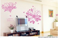 817Free Shipping fashion stamen incense wall paste@@light purple Large@@ 28009 stickers wall home decor Bath crock Hot