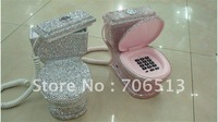 Free Shipping(5pcs/lot) Fashion Water Closet beaded gift telephone for home or office decoration