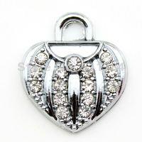 19*17mm Crystal Heart Charms,Handbag Charms Free Shipping (C30030)