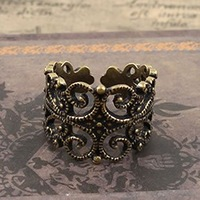 European Retro Palace Unique Carving Style Hollow Rings Hot!!