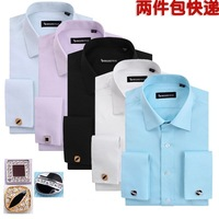 Free shipping+ 2014 French cufflinks male long-sleeve shirt business casual male long-sleeve shirt