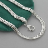 free shipping! High qualiry jewerly Chain 20INCH  6MM Wide herringbone style chain  925 silver jewelry neckalceKKNN19