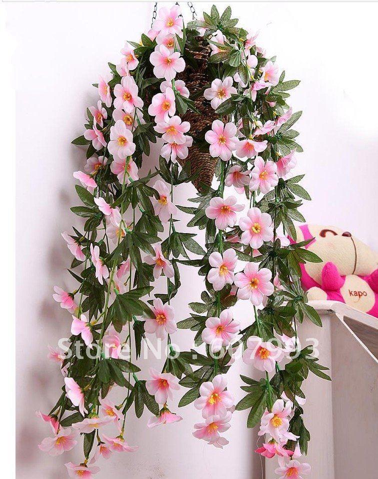 Aliexpress.com : Buy Artificial fabric flowers vine,simulation ...