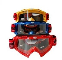 Free shipping motorbike helmet goggles with PC visor windproof skating goggle in three colors