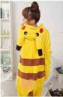 Coral fleece sleepwear female stitch cartoon animal sleepwear pokemon pikachu sleepwear one piece