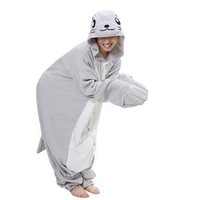 Lovers costume lounge dolphin seals cartoon animal one piece sleepwear