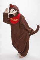 Cartoon cow monchhichi MONCHHICHI stitch one piece sleepwear lovers clothes