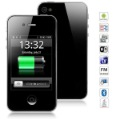 free shipping F88 Android 2.3 Smartphone with Quad Band Dual SIM 3.2 inch Analog TV WiFi MTK6513 (Black)