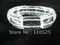 16x20mm cut face crystal spacer bracelet - free shipping