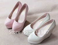 $15 off per $150 order Free/drop shipping,platform pumps,sequined cloth,wedges,high heels,wedding shoes woman,SLWH030