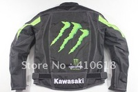 2012kawasaki-MONSTER  racing suits - motorcycle clothing - with a removable cotton gall bladder and protective gear