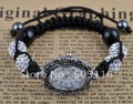 2012 newest new design shamballa bracelets ,9pcs new design wholesale fashion silver bracelet watch shamballa bracelet