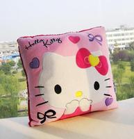 Free Shipping High quality 2styles hello Kitty pillow plush pillow cushion toy girls gift