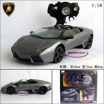Free shipping genuine large section 1:14 Lamborghini rechargeable remote control car model