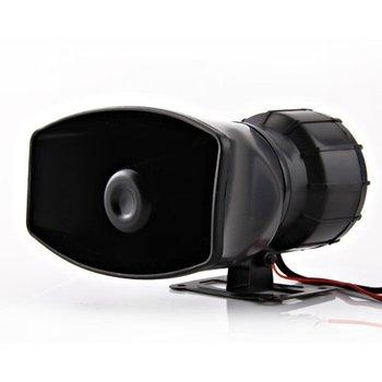 12V Loud Hooter/Ambulance/Traffic/Police/Fire alarm Siren Car Van Truck 5 Sound Tone Speaker Tweeter&PA System Micphone 300db