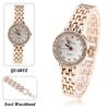 Prema Quartz Wrist Watch with Dots Indicate Time Steel Watchband for Female