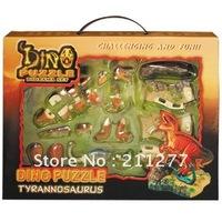 3D puzzle dinosaur  ( Tyrannosaurus Vs Brachiosaurus )