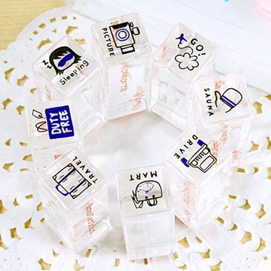 Nice travel theme crystal stamp Free shipping (4 sets/lot)(China (Mainland))