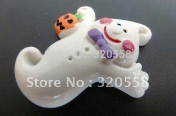 "Wholesale 50pcs 1.2"" Halloween Ghost FlatBack Resins Scrapbooking Embellishment"