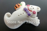 "Wholesale 50pcs 1.2"" Halloween Ghost FlatBack Resins Scrapbooking Embellishment Free Shipping"