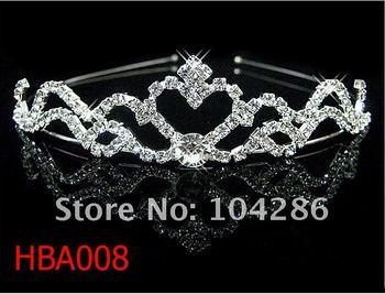 Royal kings tiara hairband rhinestone headband crystal head band 60pcs/lot assorted styles free shipping