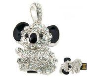 Crystal Koala Diamond Jewelry USB Flash Drive Memory Stick Thumb Pen  4GB/8GB/16GB/32GB